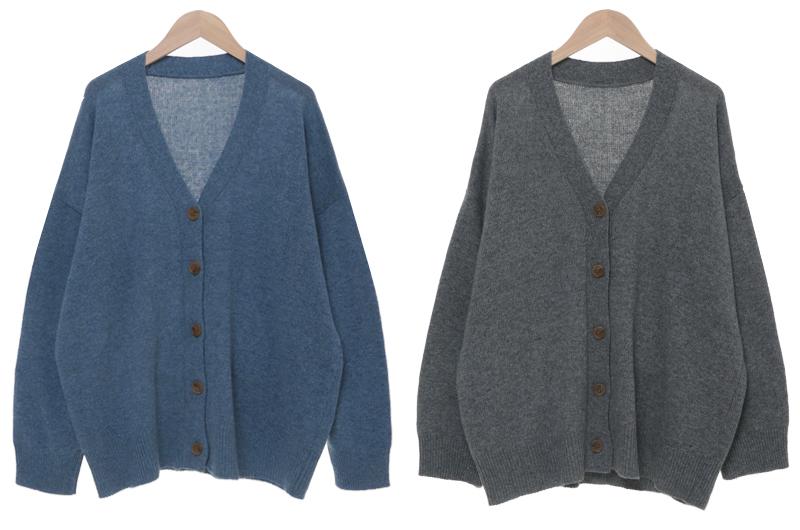 Mono Overfit Rams Wool Cardigan