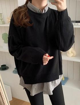 韓國空運 - Dolphin Round Knit ♥ Side Split 針織衫