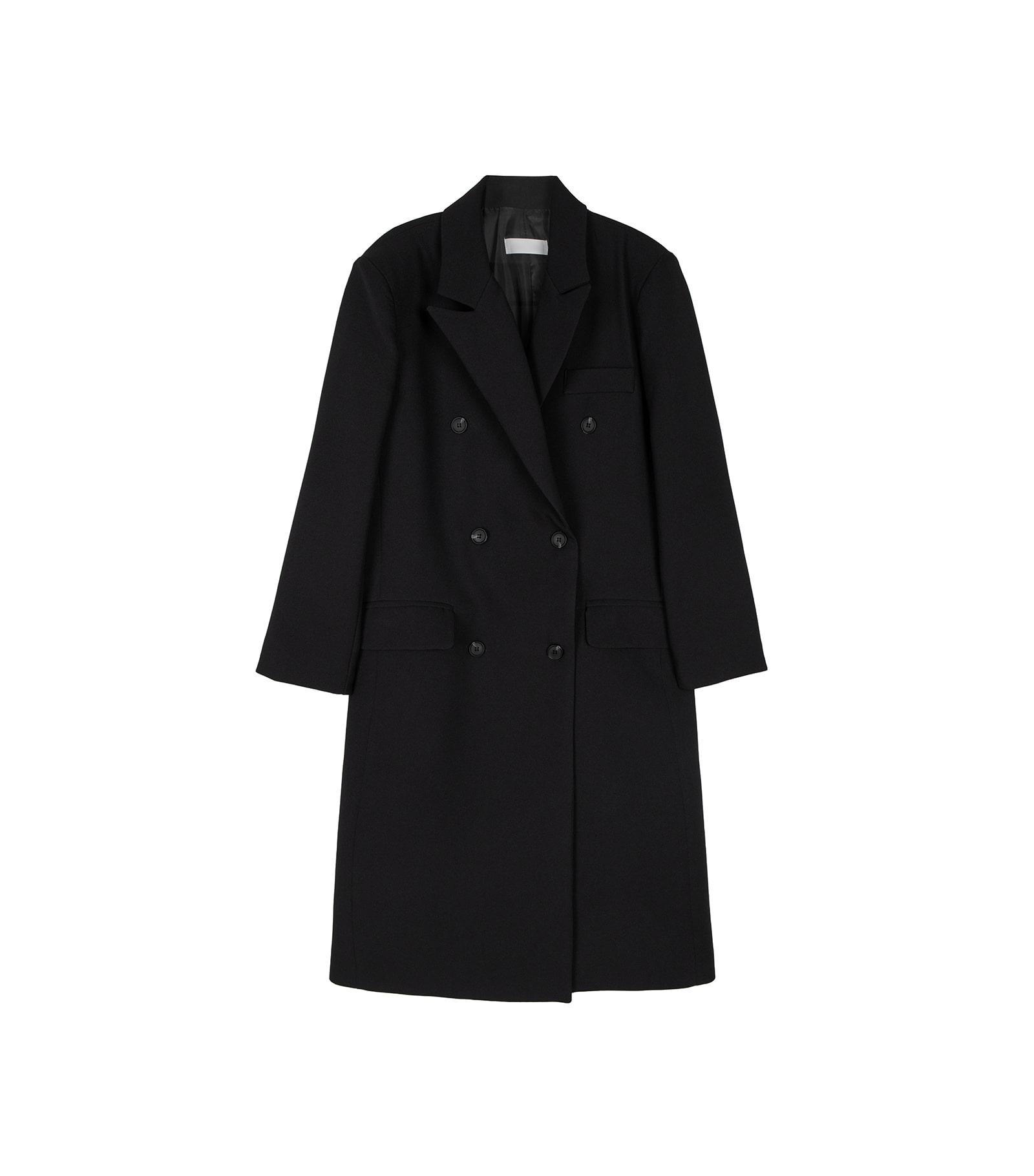 Met double button long coat