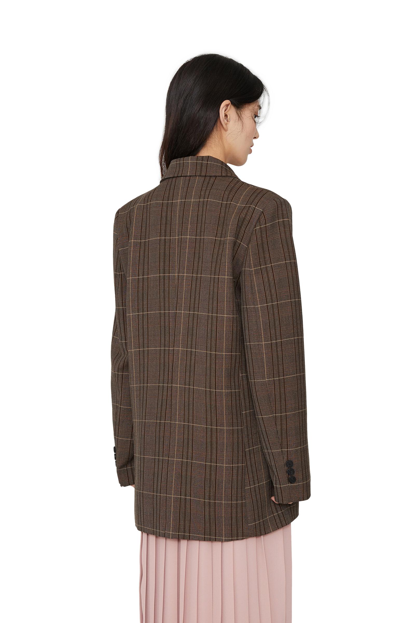 Terra check double blazer
