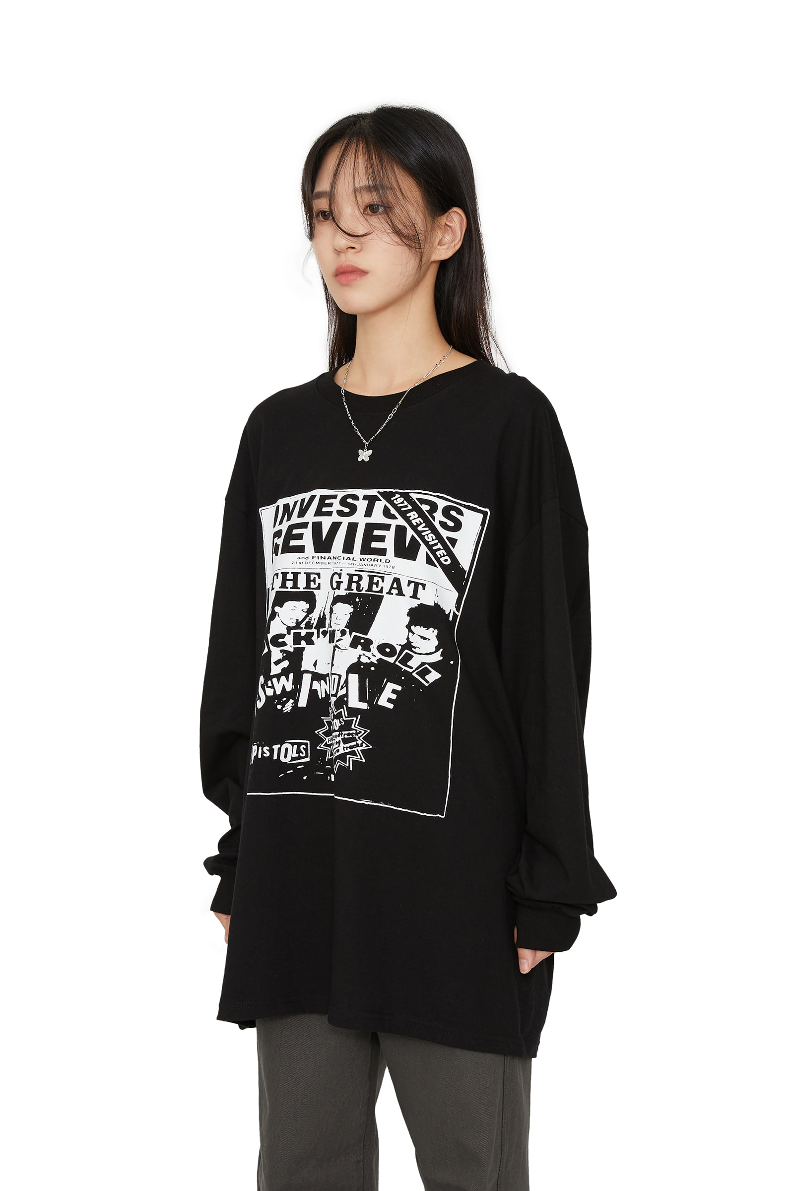 Pistols over long sleeve T-shirt