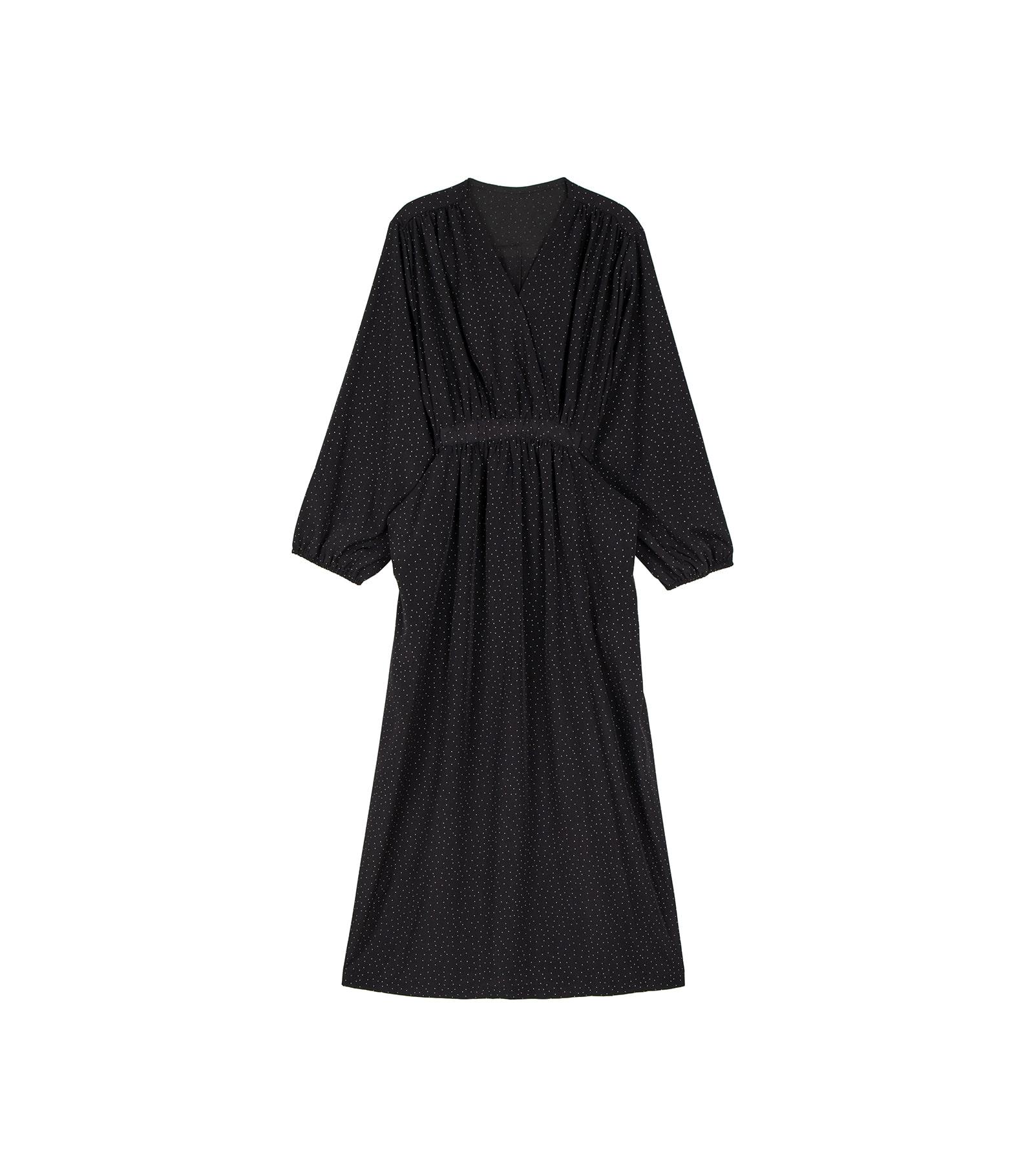 More dot V-neck maxi dress