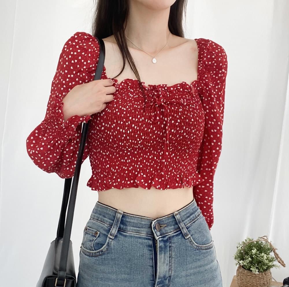 Love smoking cropped blouse