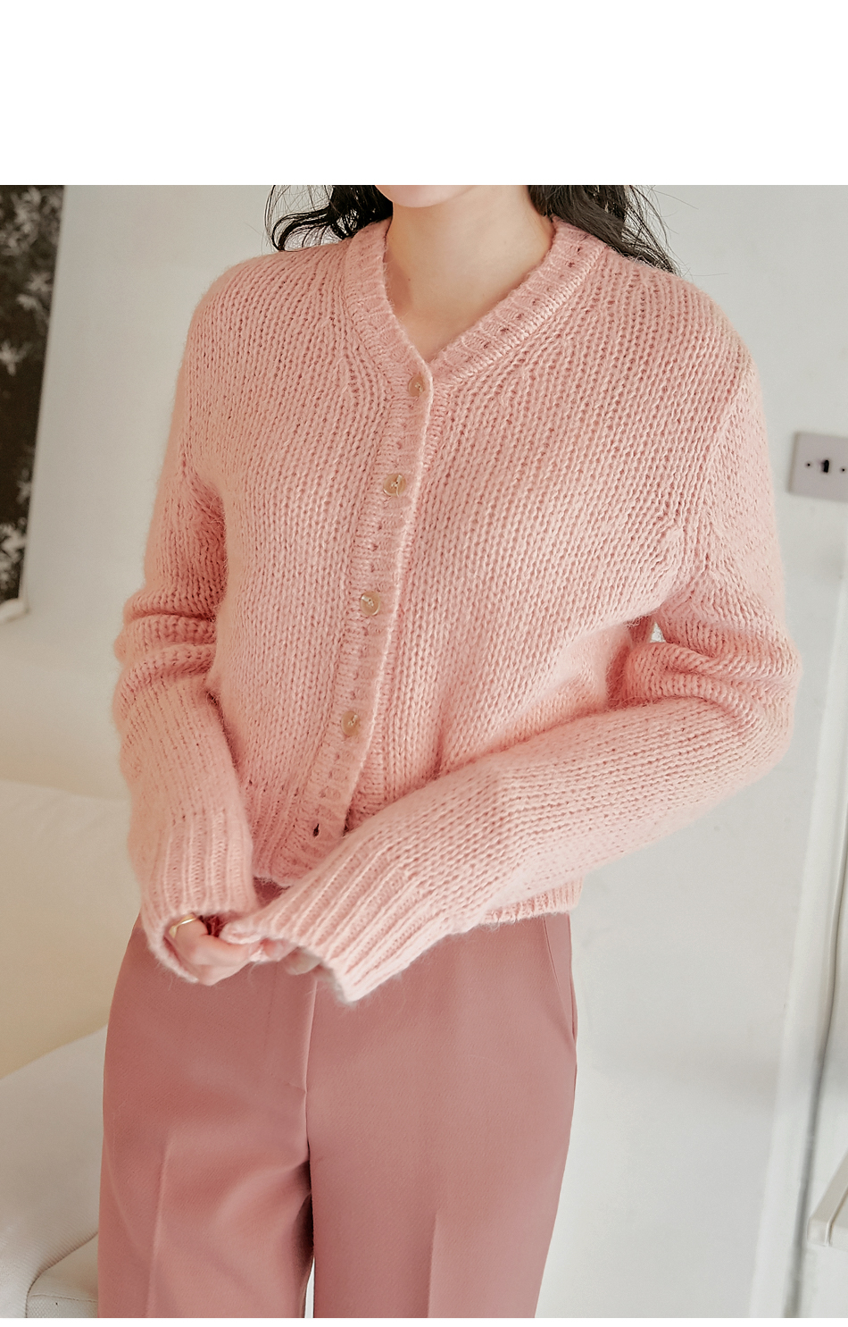 Mini Button-Up Knit Cardigan