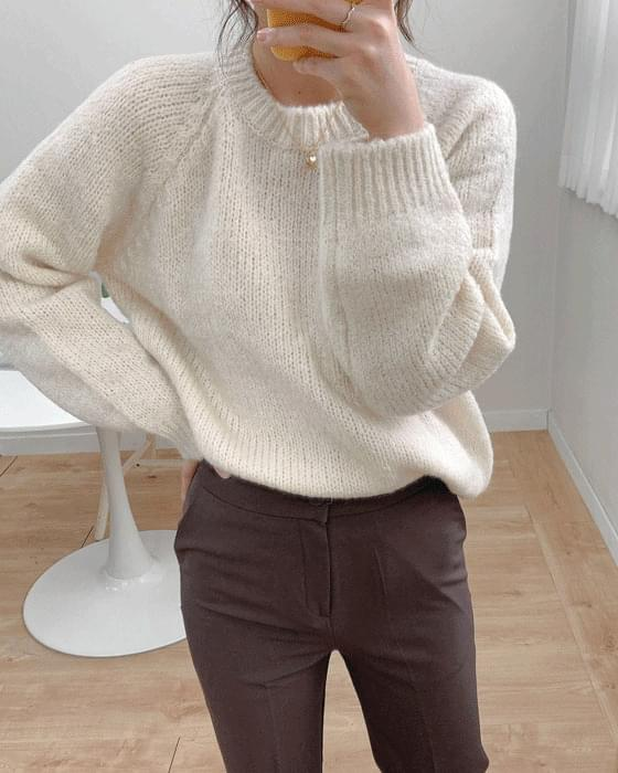 Thank you sale♥ Round alpaca wool knit-5color