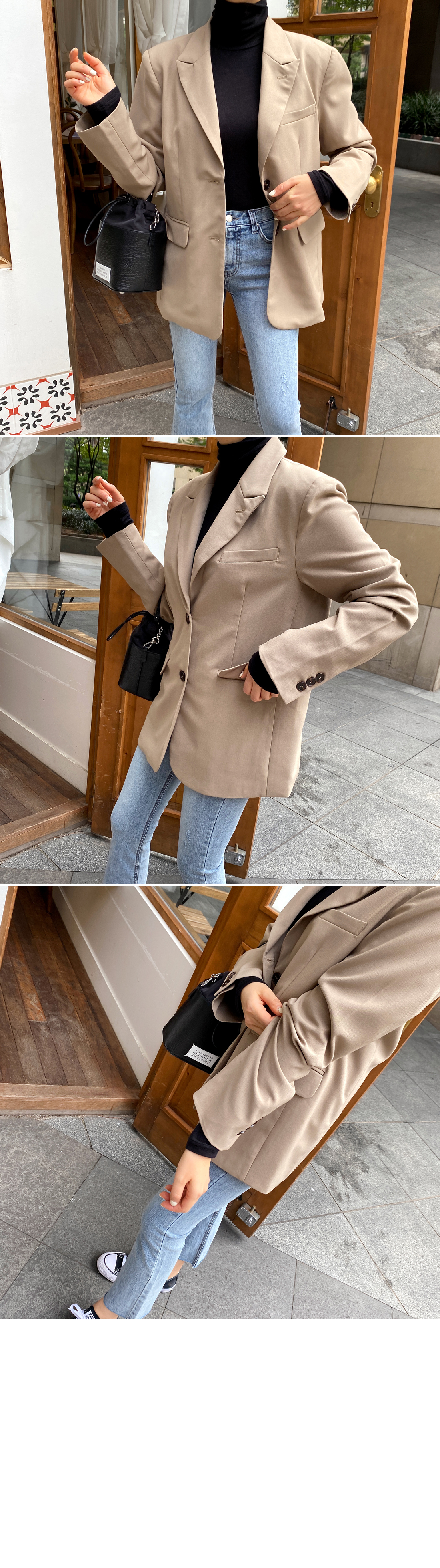 Button cue two button basic jacket