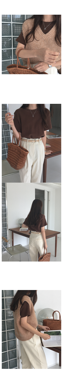 Vant alpaca knit vest