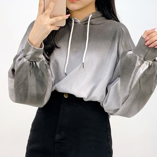 Jelly Washed Crop Hoodie