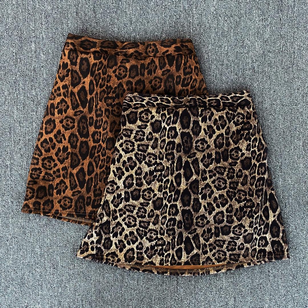 Leopard banding skirt