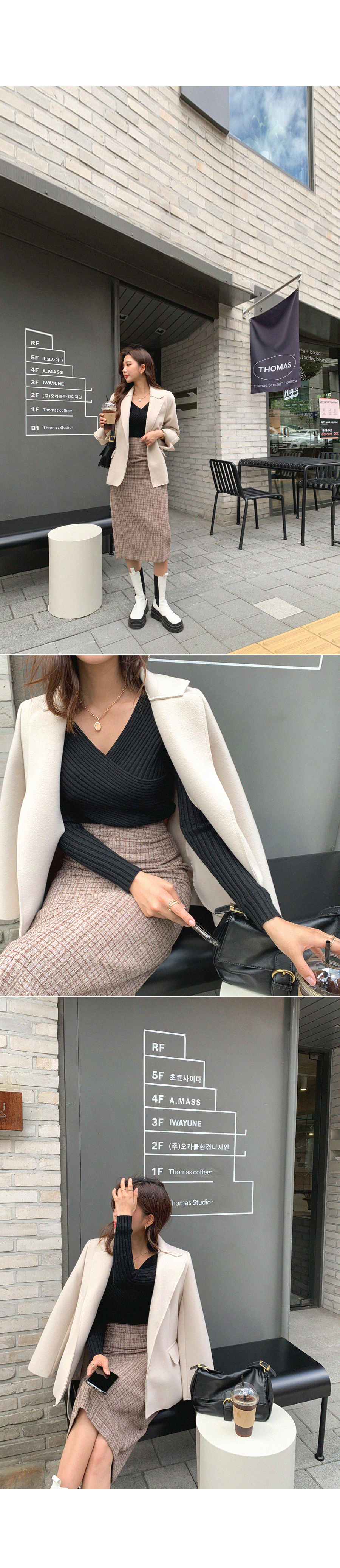 Beautiful Girl Twist Ribbed Knitwear