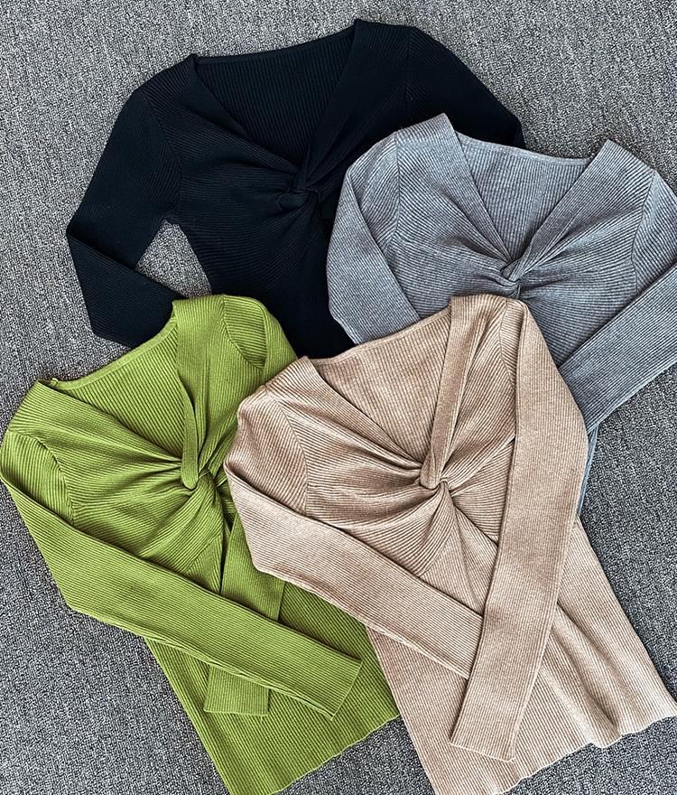 Slim fit twist knit