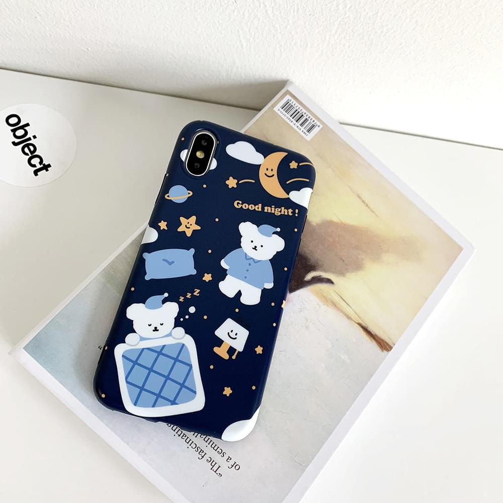 Goodnight Sleep Bichon Matte Jelly iPhone Case