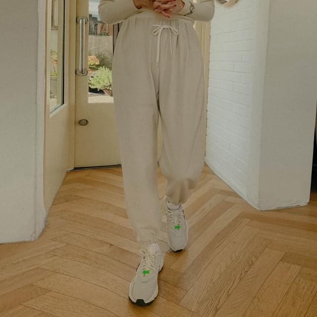 Mini Bear Towel Cotton Jogger Pants