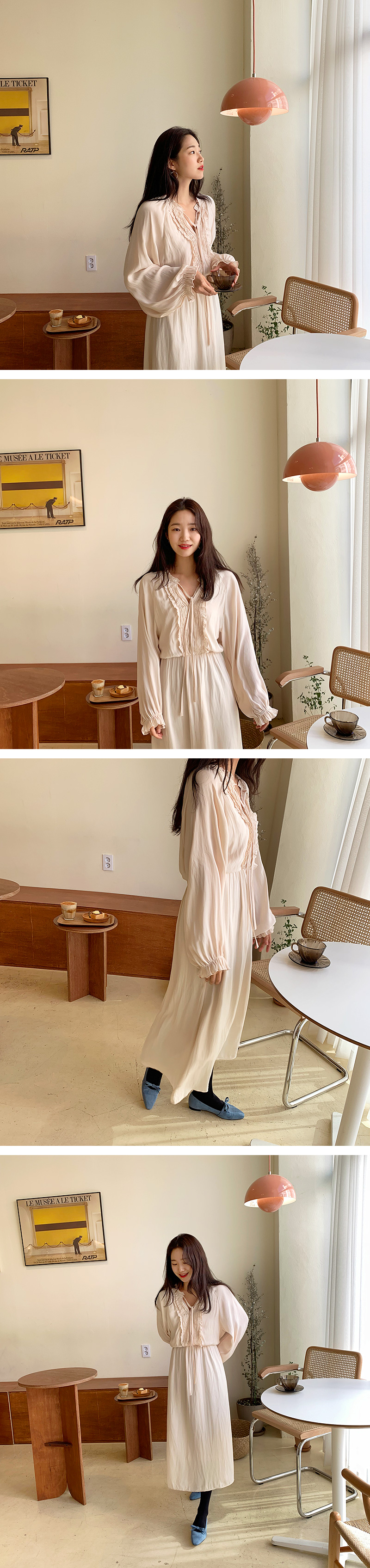 Grace Frill Chiffon Long Dress