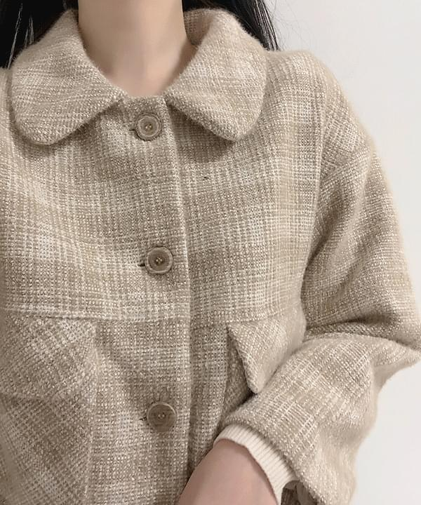Bare check short coat 大衣