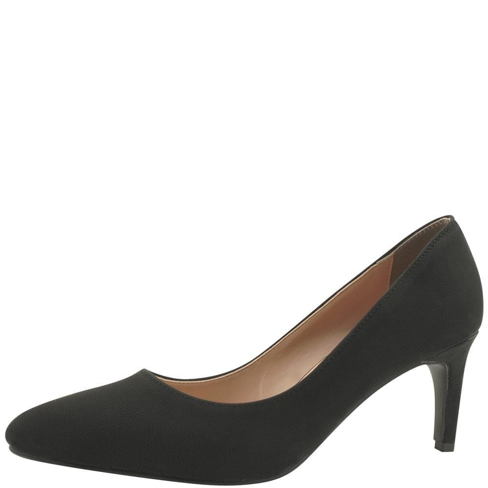 Stiletto Basic Middle Heel Shoes 7cm Black