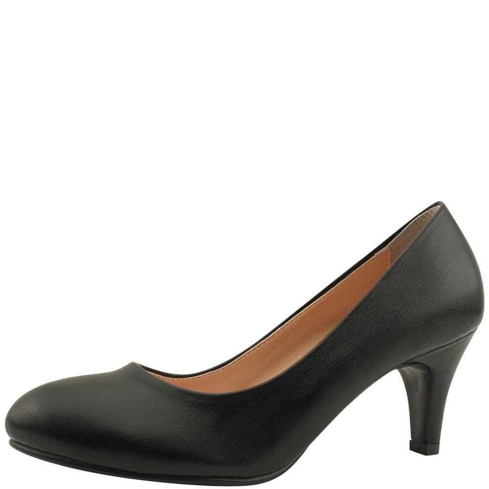 Round Nose Low Heel Interview Crew Shoes 7cm