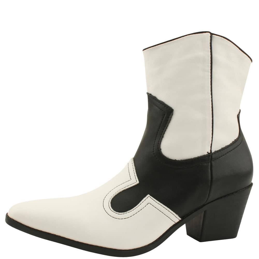 Western Boots Two-Tone Soft Heel Middle Heel