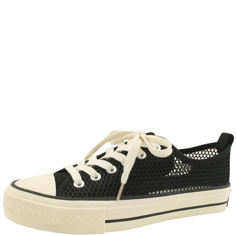 Cool Mesh Canvas Sneakers Black