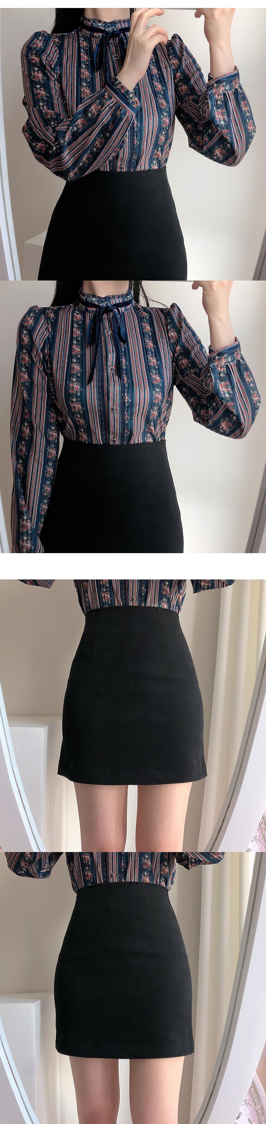 起毛・クロプHラインの基本スカート(クリーム、ベージュ、墨色、ブラック)