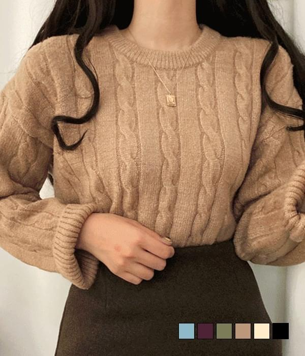 Lara cable loose fit knit