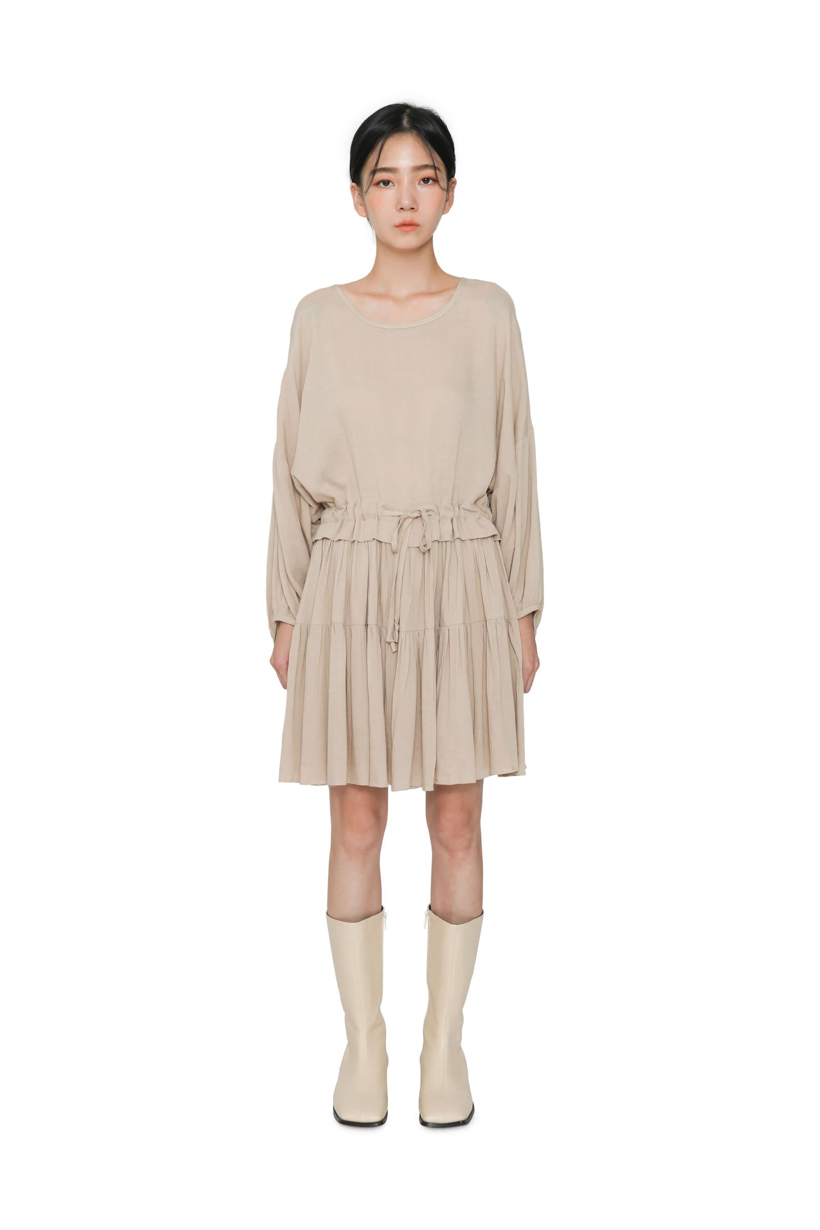 Village pleated mini dress