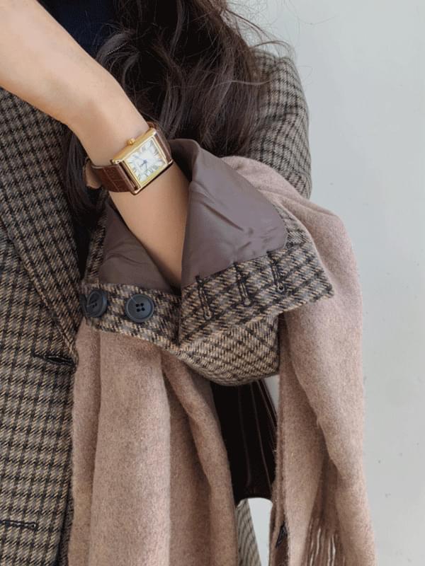 Vienna wool check jacket
