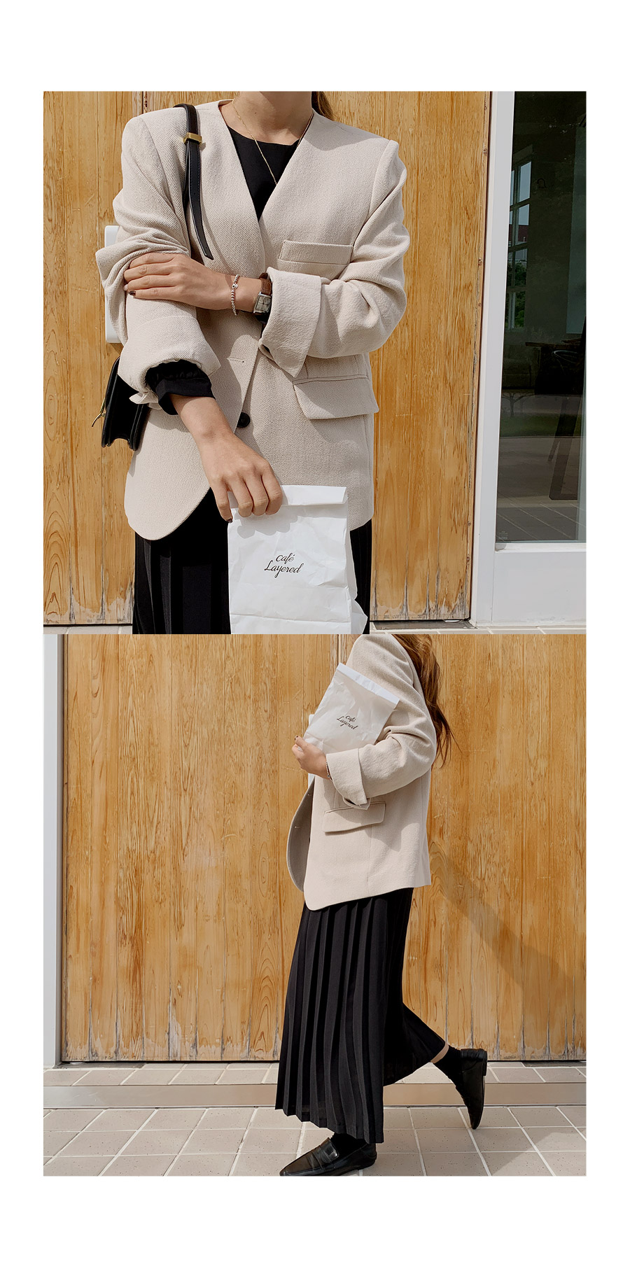 Elind Open Collar Overfit Jacket
