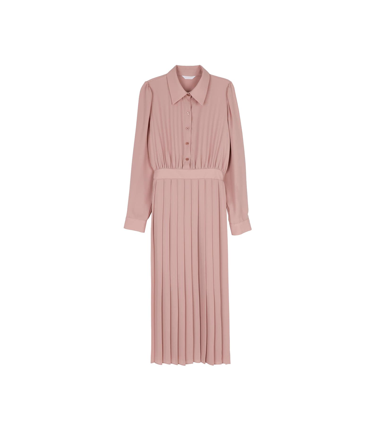 Lowell pleated midi dress