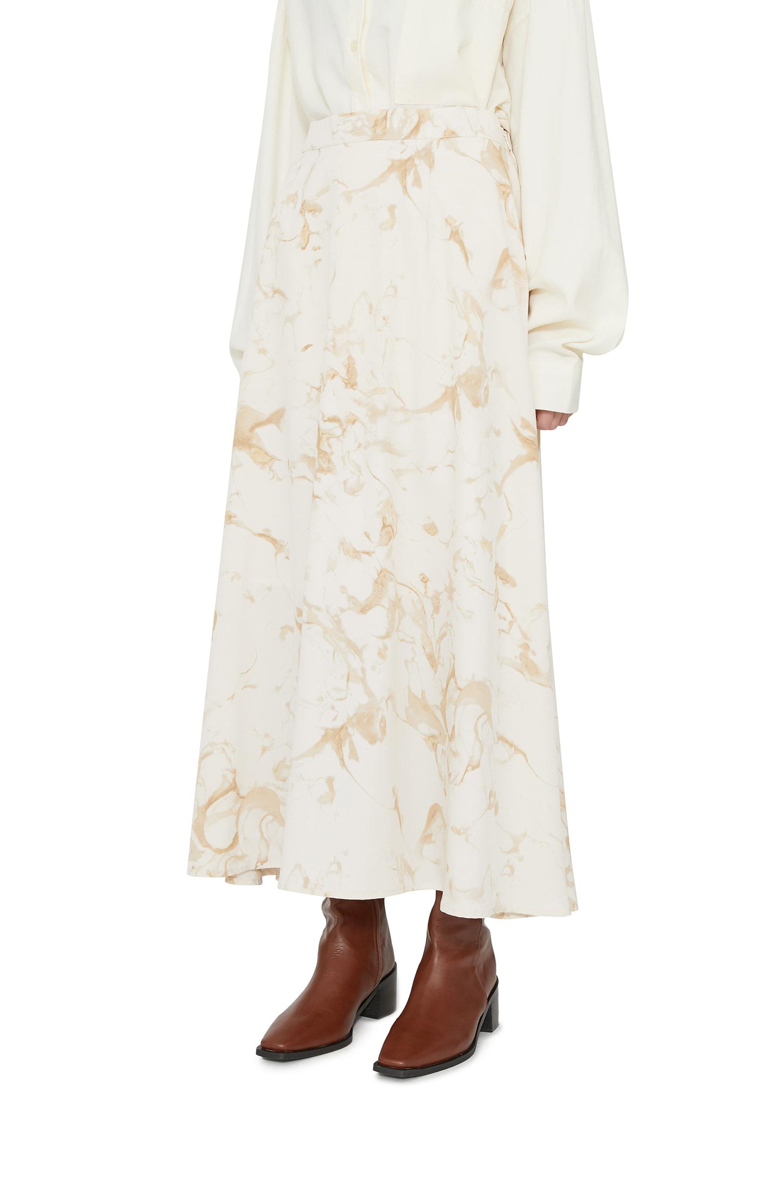 Steen marbling maxi skirt