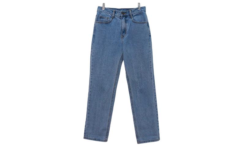 Reno denim straight-leg trousers