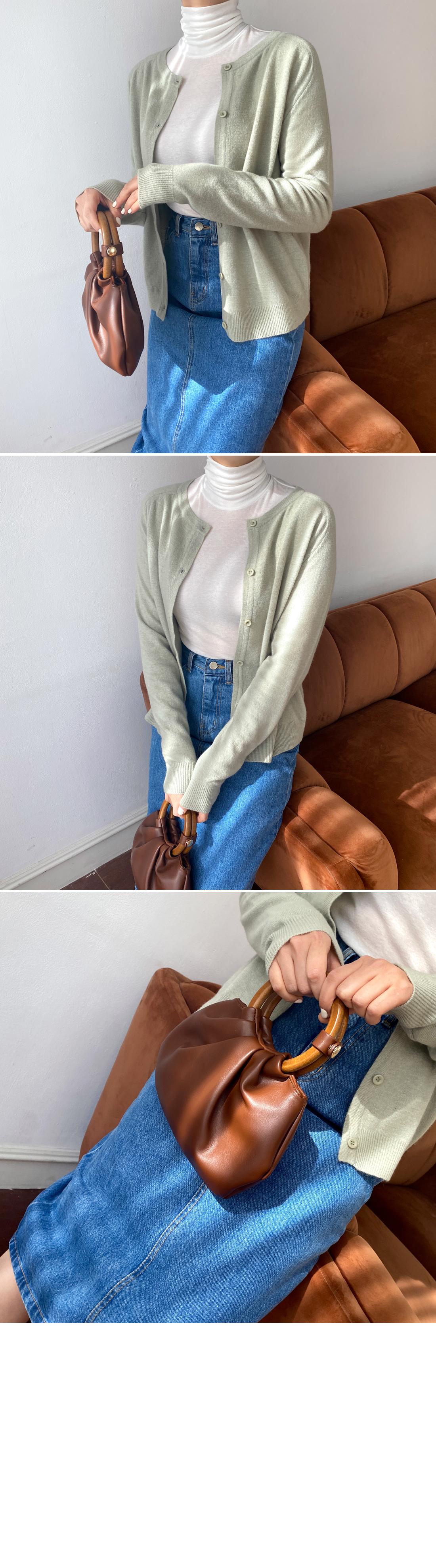 Apple Cashmere Round Cardigan