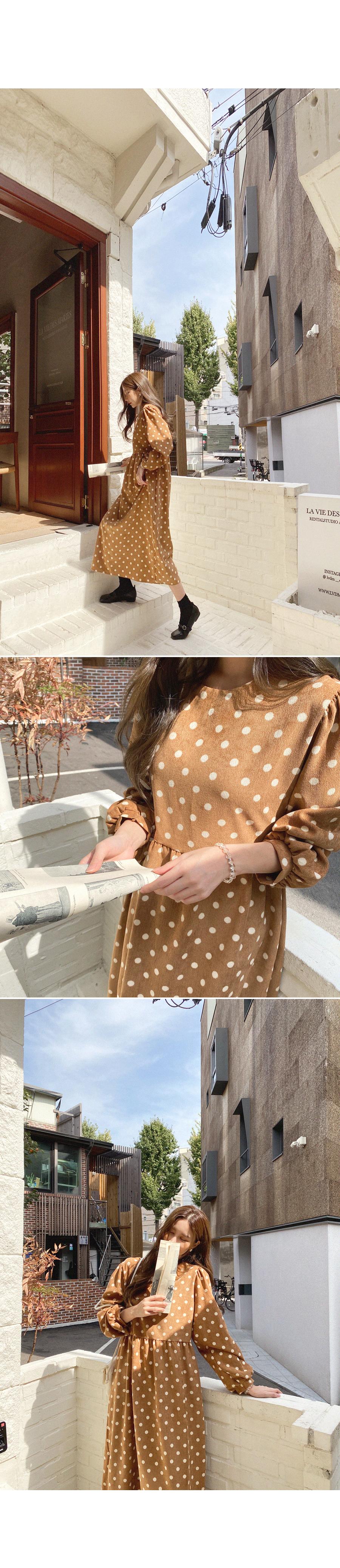Droplet Dot Flare Dress
