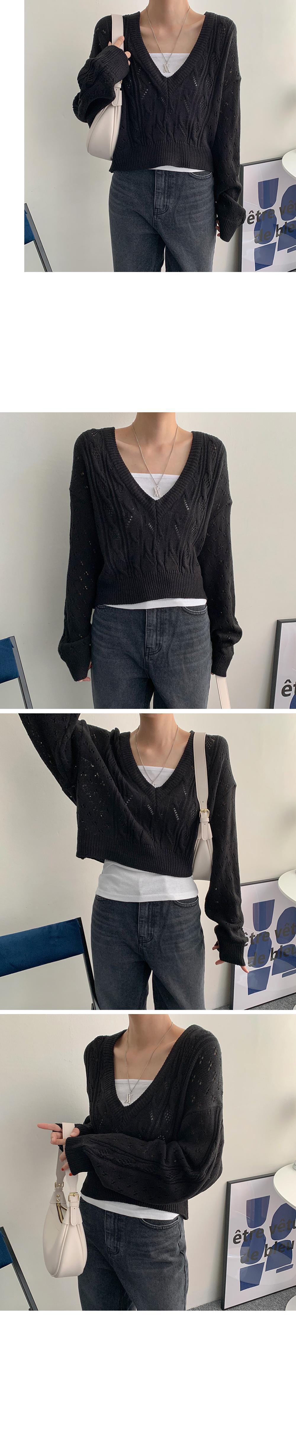 Wind Discount Ecrop Knit