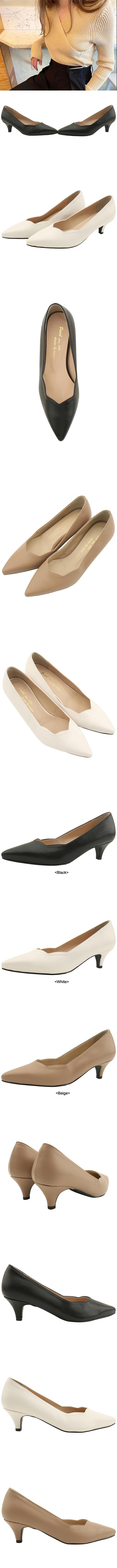 Wave Stiletto Middle Heel 5cm White