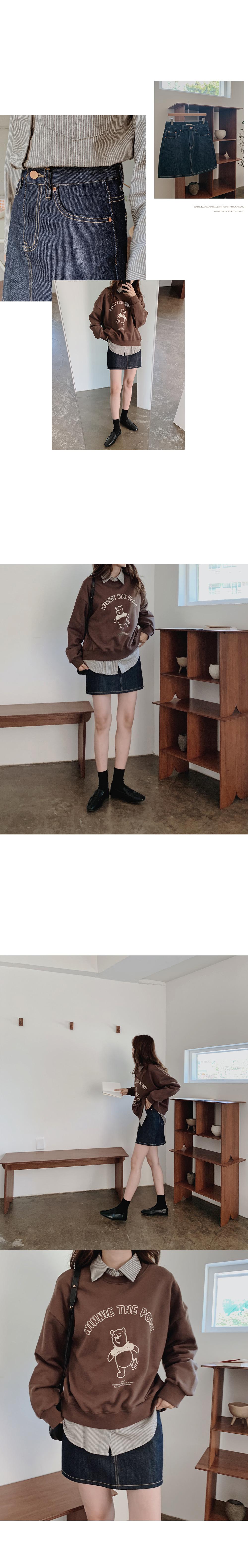 Haynes low denim mini skirt
