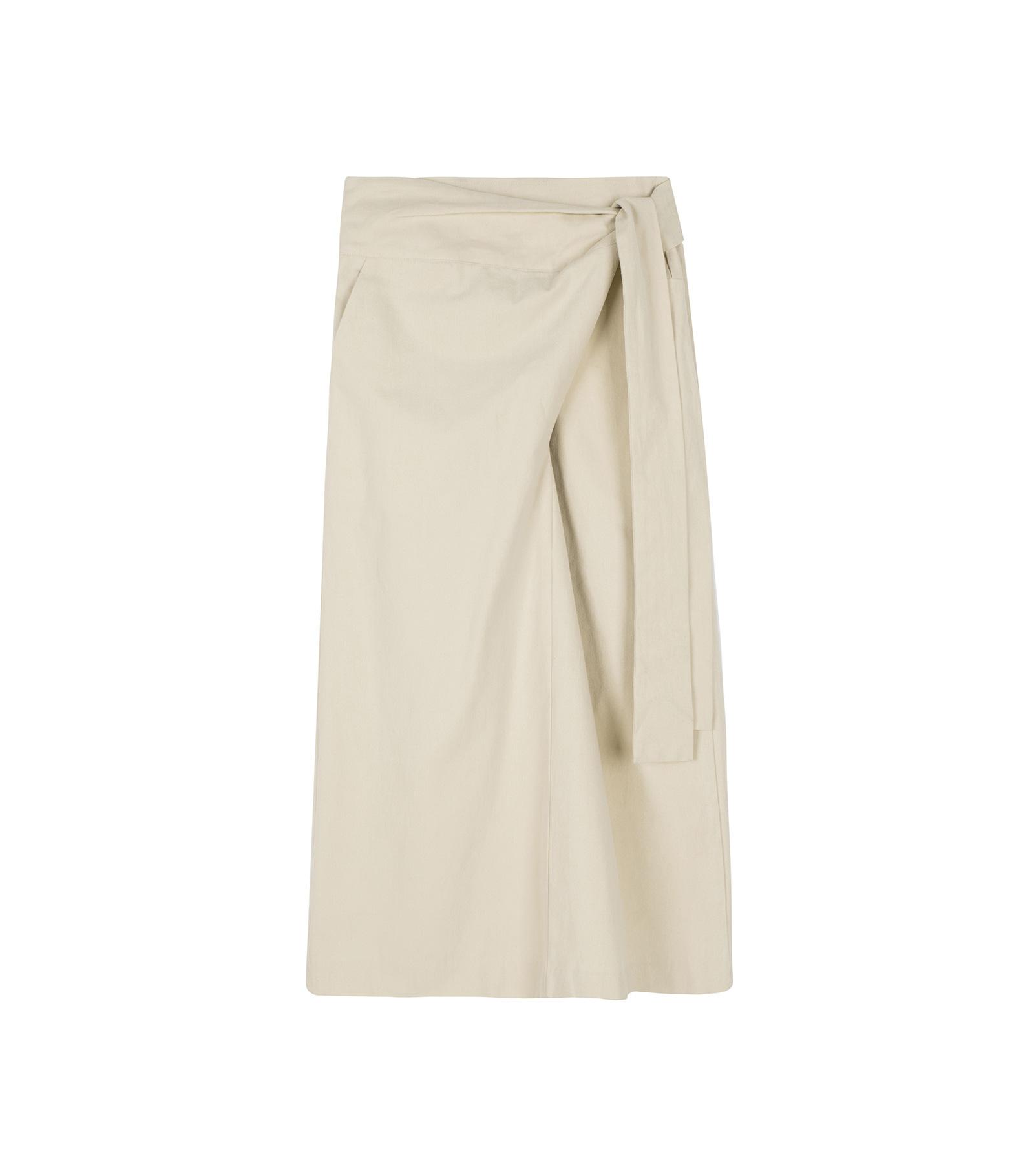 Peach wrap maxi skirt