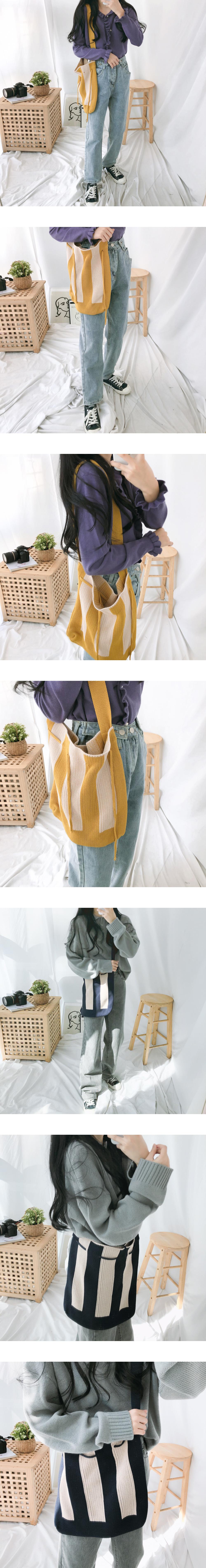 6002 bokjori knit shoulder bag