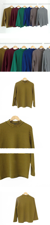 Colorful striped Turtleneck T-shirt