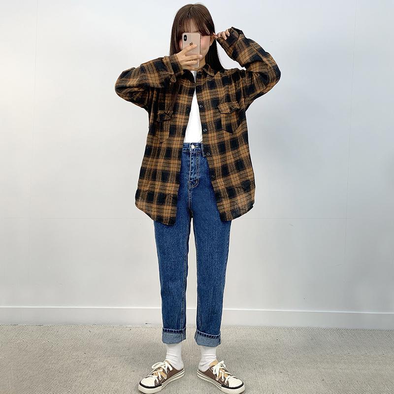 Standard straight denim trousers
