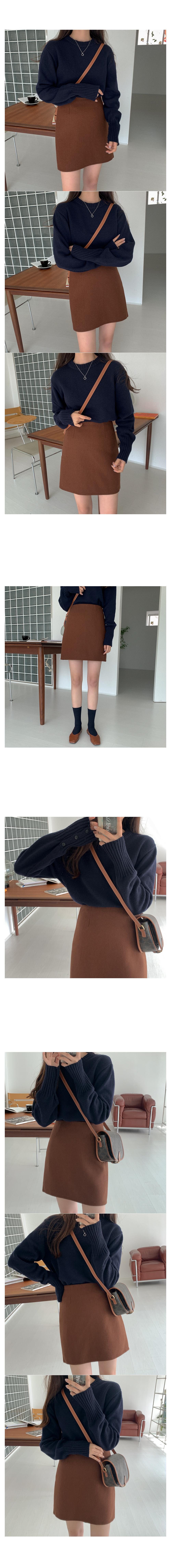 Pilaf wool mini skirt
