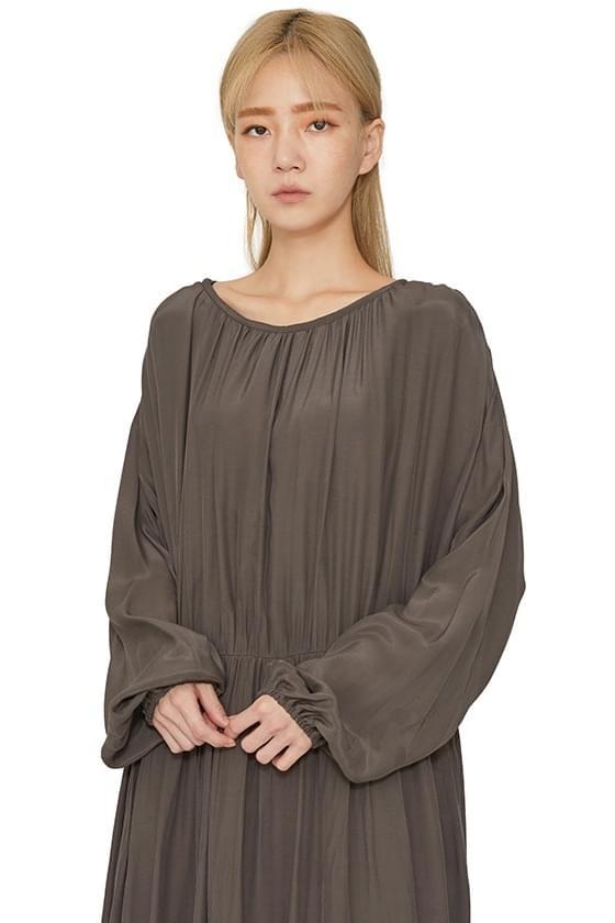 Dry shirred maxi dress