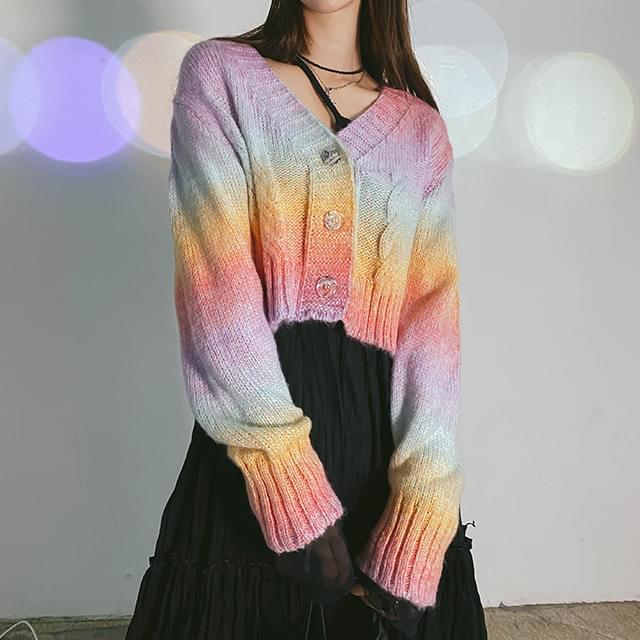Rainbow cropped cardigan 針織外套