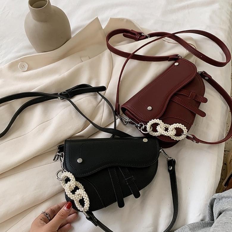 Urban Bros Pearl Dot and Cross Leather Bag