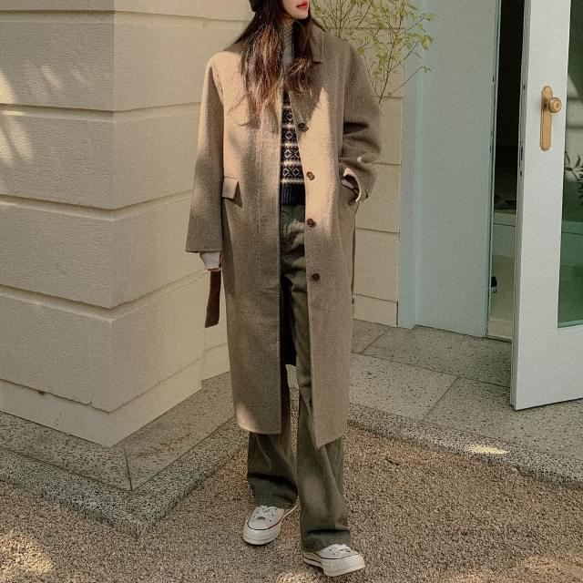 About Handmade Single Wool Coat 大衣外套