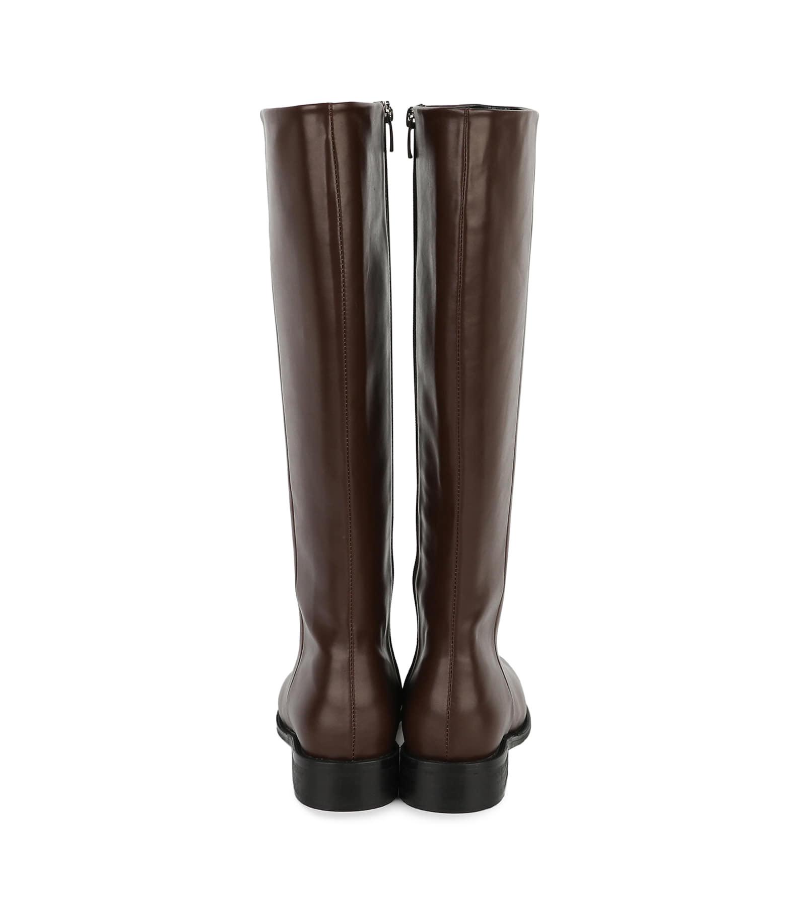 Berlin middle heel long boots