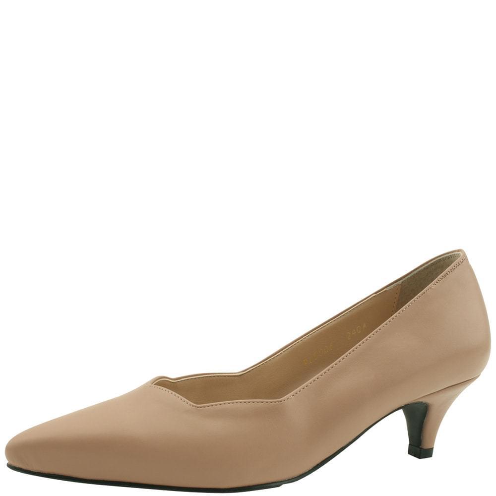 Wave Stiletto Middle Heel 5cm Beige