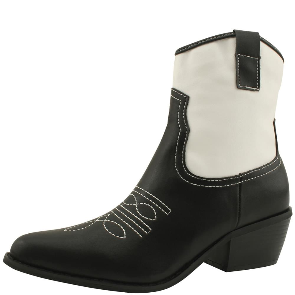 Stiletto Middle Hill Combi Western Ankle Boots