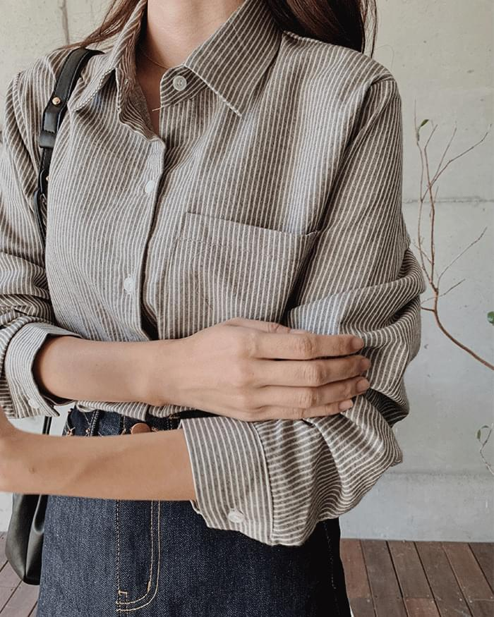 Loeve daily striped shirt
