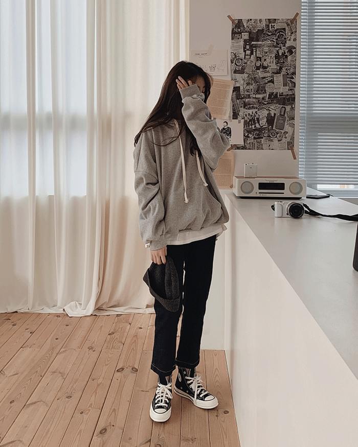 Deroin stitch low-denim trousers
